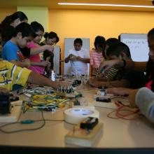 Families Building Circuits
